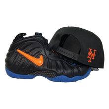 Load image into Gallery viewer, Matching New Era Scrip New York Mets Snapback Hat For Nike Foamposite Knicks