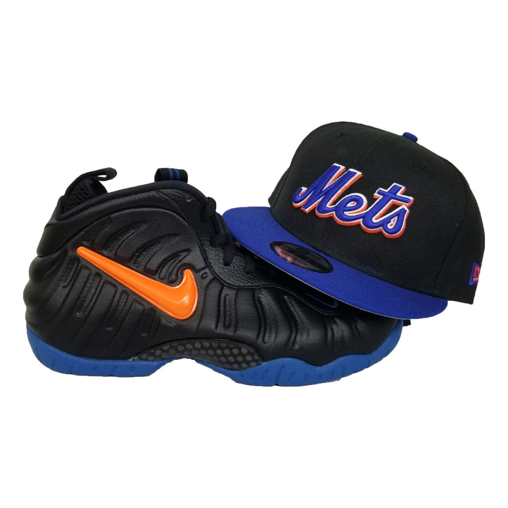 Matching New Era Scrip New York Mets Snapback Hat For Nike Foamposite Knicks