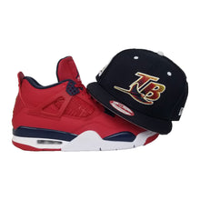 Load image into Gallery viewer, Matching New Era Tampa Bay Rays Snapback Hat For Jordan 4 FIBA