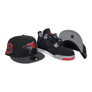 Matching New Era Toronto Blue Jays 59Fifty Fitted Hat for Jordan 4 Bred