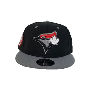 Matching New Era Toronto Blue Jays 9Fifty Snapback Hat for Jordan 4 Bred