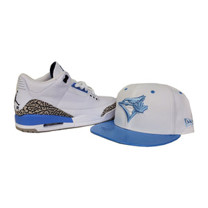 Matching New Era Toronto Blue Jays Fitted Hat For Jordan 3 UNC