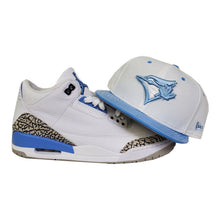 Load image into Gallery viewer, Matching New Era Toronto Blue Jays Fitted Hat For Jordan 3 UNC