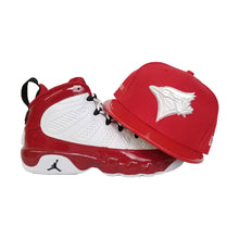 Load image into Gallery viewer, Matching New Era Toronto Blue Jays Fitted Hat For Jordan 9 Gym Red