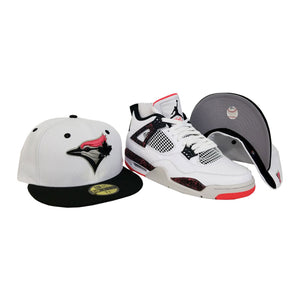 Matching New Era Toronto Blue Jays Fitted Hat for Jordan 4 Flight Nostalgia