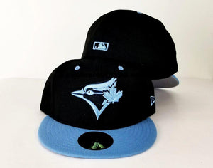 Matching New Era Toronto Blue Jays Fitted Hat for Jordan 6 UNC Blue