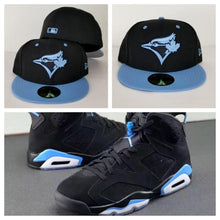 Load image into Gallery viewer, Matching New Era Toronto Blue Jays Fitted Hat for Jordan 6 UNC Blue