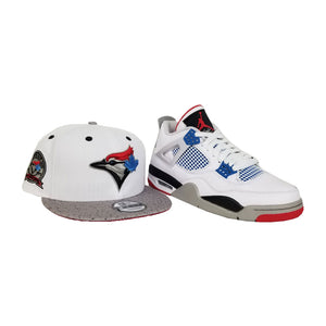 Matching New Era Toronto Blue Jays Snapback Hat For Jordan 4 What The