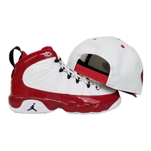 Load image into Gallery viewer, Matching New Era Toronto Blue Jays Snapback Hat For Jordan 9 Gym Red