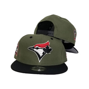 Matching New Era Toronto Blue Jays Snapback Hat for Jordan 6 Travis Scott