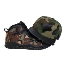 Load image into Gallery viewer, Matching New Era Toronto Blue Jays Strapback Hat for Jordan 10 Desert Camo