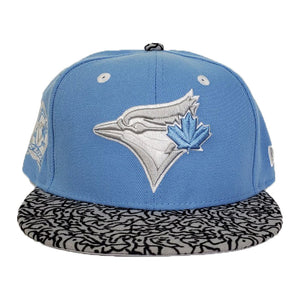 Matching New Era Toronto Blue jays Snapback Hat For Jordan 3 UNC