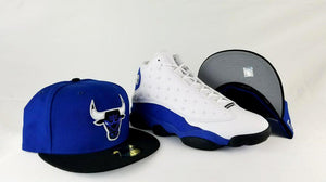 Matching New era Chicago Bulls 59Fifty Fitted Hat for Jordan 13 Hyper Royal