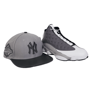 Matching New Era New York Yankees Fitted hat for Jordan 13 Atmosphere Grey