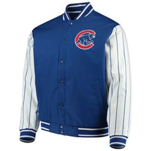 Load image into Gallery viewer, Men's Chicago Cubs JH Design Royal Blue Quilted Knit Lined Jacket