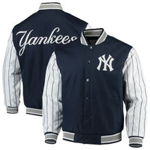 Load image into Gallery viewer, Men's New York Yankees JH Design Navy Quilted Knit Lined Jacket
