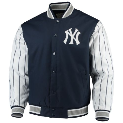 Men's New York Yankees JH Design Navy Quilted Knit Lined Jacket