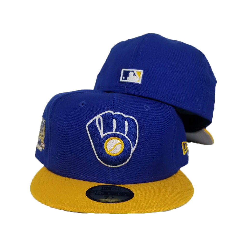Milwaukee Brewers Royal Blue 40th Anniversary Cooperstown New Era 59Fifty Fitted