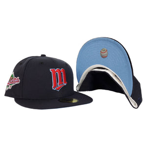 Minnesota Twins Navy Blue Icy Blue Bottom 1991 World Series New Era 59Fifty Fitted