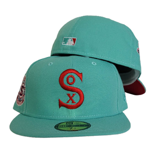 Mint Green Chicago White Sox Red Bottom 1917 World Series New Era 59Fifty Fitted Hat