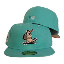 Load image into Gallery viewer, Mint Green St. Louis Cardinals Peach Bottom Cardinals Side Patch New Era 59Fifty Fitted