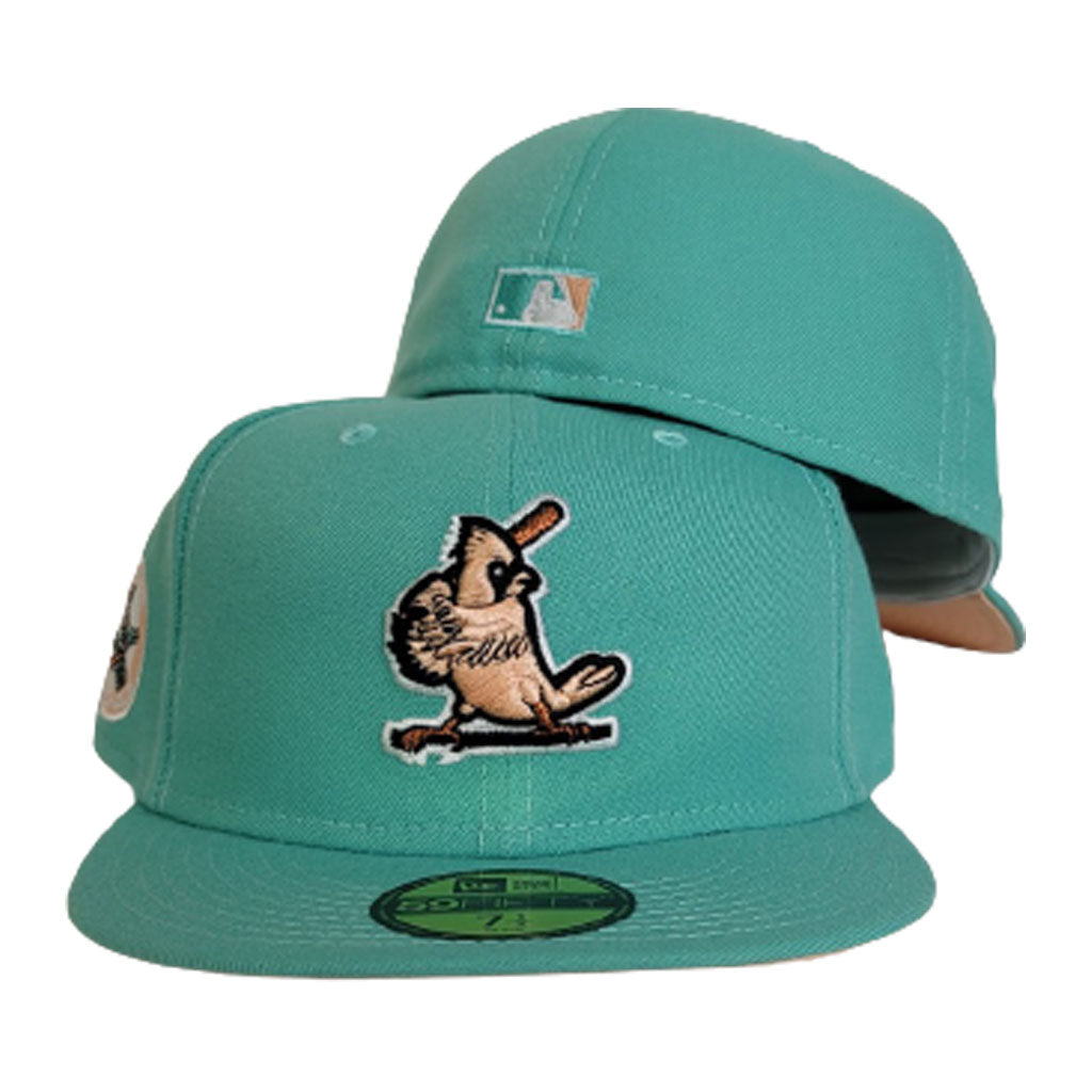 Mint Green St. Louis Cardinals Peach Bottom Cardinals Side Patch New Era 59Fifty Fitted