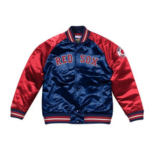 Load image into Gallery viewer, Mitchell & Ness Boston Red Sox Navy Blue Satin Varsity Jacket