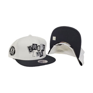 Mitchell & Ness Brooklyn Nets Patch Work White Snapback Hat