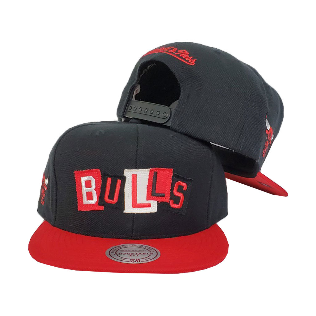 Mitchell & Ness Chicago Bulls Patch Work Black Snapback Hat