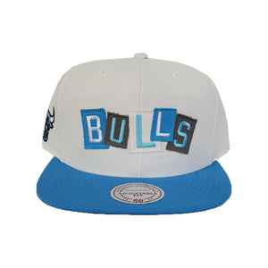Mitchell & Ness Chicago Bulls Patch Work Blue Snapback Hat