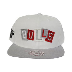 Mitchell & Ness Chicago Bulls Patch Work Grey Snapback Hat