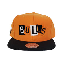 Load image into Gallery viewer, Mitchell & Ness Chicago Bulls Patch Work Orange Snapback Hat