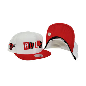 Mitchell & Ness Chicago Bulls Patch Work Red Snapback Hat