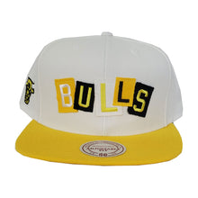 Load image into Gallery viewer, Mitchell & Ness Chicago Bulls Patch Work Yellow Snapback Hat