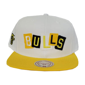 Mitchell & Ness Chicago Bulls Patch Work Yellow Snapback Hat