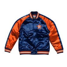 Load image into Gallery viewer, Mitchell & Ness Color Blocked Houston Astros Satin Light Jacket