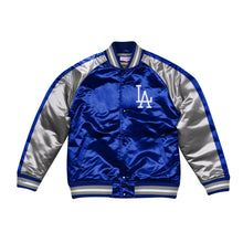 Load image into Gallery viewer, Mitchell & Ness Color Blocked Los Angeles Dodgers LA Satin Light Jacket