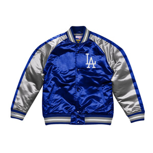Mitchell & Ness Color Blocked Los Angeles Dodgers LA Satin Light Jacket