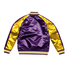 Load image into Gallery viewer, Mitchell & Ness Color Blocked Los Angeles Lakers Satin Light Jacket