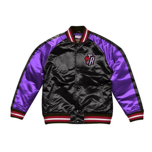 Mitchell & Ness Color Blocked Toronto Raptors Satin Light Jacket