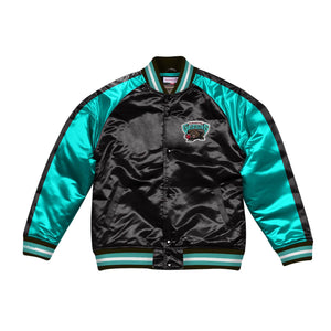 Mitchell & Ness Color Blocked Vancouver Grizzlies Satin Light Jacket