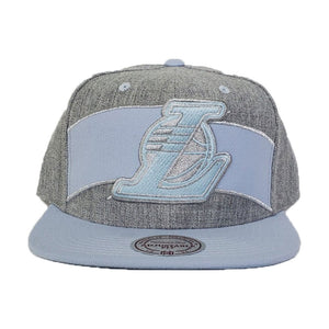 Mitchell & Ness Grey - Light Blue Los Angeles Lakers Snapback Hat