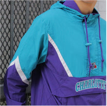 Load image into Gallery viewer, Mitchell & Ness Half Zip Anorak NBA Charlotte Hornets Jacket