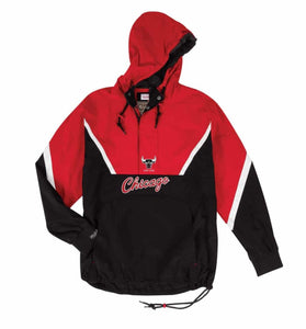 Mitchell & Ness Half Zip Anorak NBA Chicago Bulls Jacket