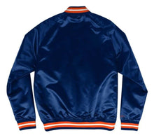 Load image into Gallery viewer, Mitchell & Ness Houston Astros Navy Blue Satin Varsity Light Jacket