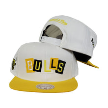 Load image into Gallery viewer, Mitchell & Ness Los Angeles Lakers Patch Work Yellow Snapback Hat