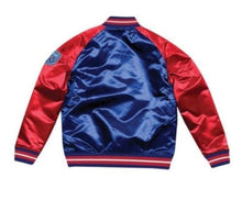 Load image into Gallery viewer, Mitchell & Ness New York Giants Royal Blue Satin Varsity Jacket