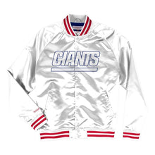 Load image into Gallery viewer, Mitchell & Ness New York Giants White Satin Light Jacket