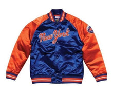 Load image into Gallery viewer, Mitchell & Ness New York Mets Satin Varsity Jacket