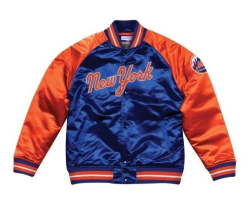 Mitchell & Ness New York Mets Satin Varsity Jacket